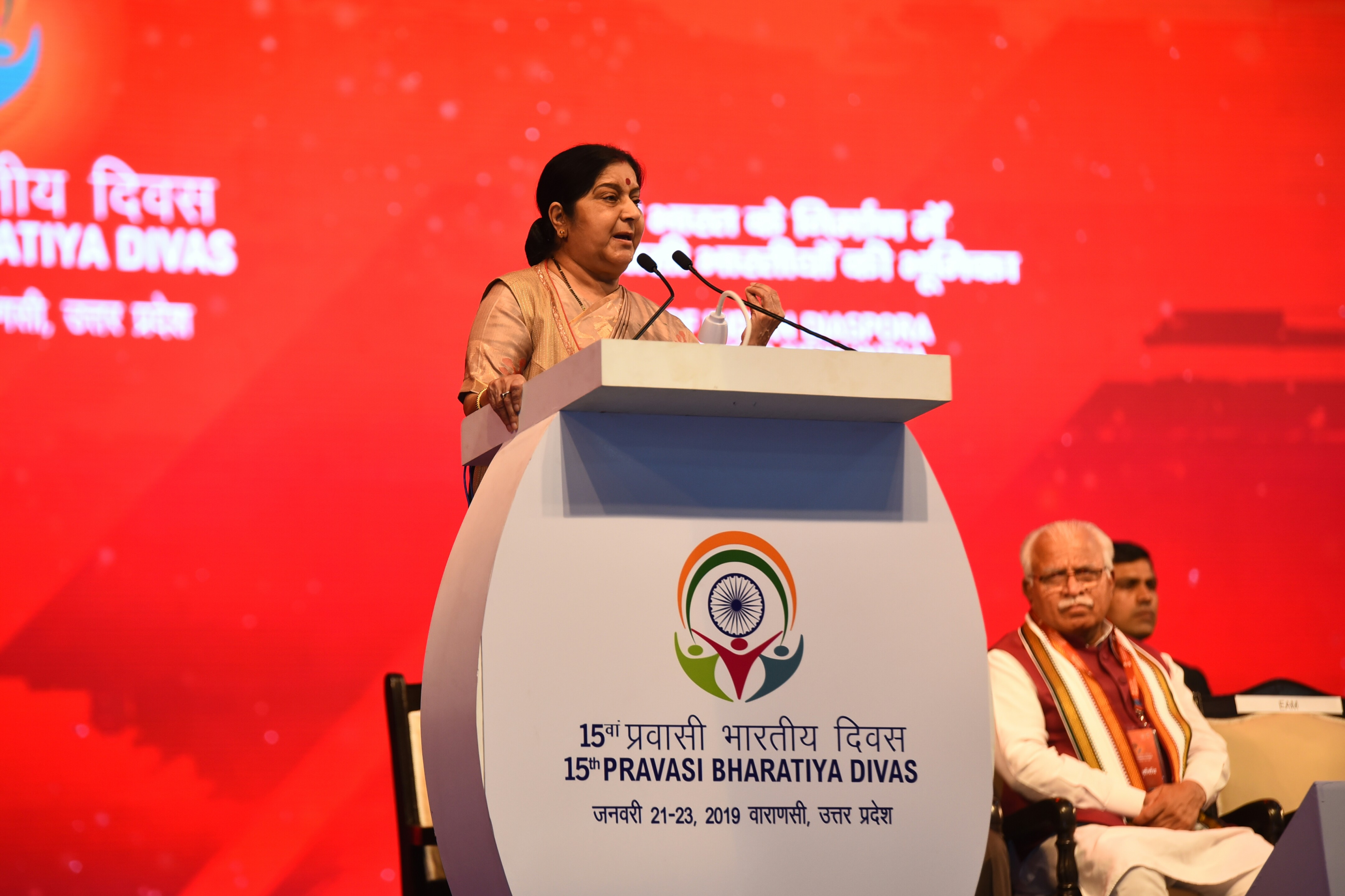 External Affairs Minister delivers her address at Inauguration of 15th Pravasi Bhartiya Divas Convention 2019