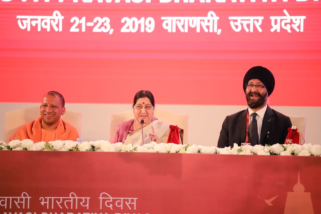 External Affairs Minister delivers her Address at Inauguration of Youth Pravasi Bharatiya Divas 2019